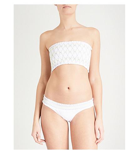 HEIDI KLEIN Deia bandeau bikini top (Print