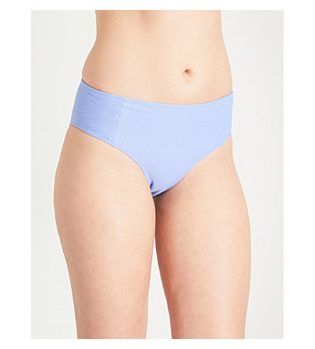 HEIDI KLEIN Portinatx high-rise bikini bottoms (Cornflower+purple