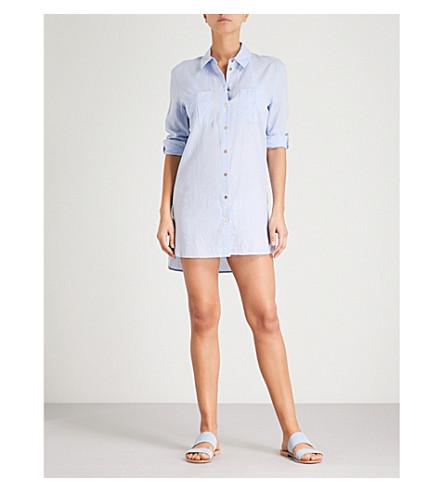 HEIDI KLEIN St Barths herringbone cotton shirt (Blue+chambray