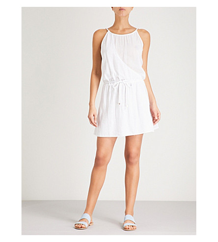 HEIDI KLEIN Seychelles cotton mini dress (White