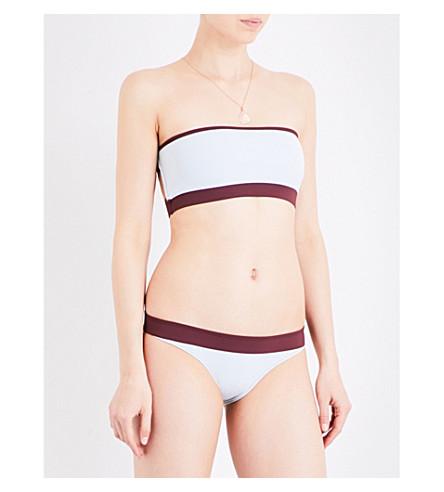 HEIDI KLEIN BB reversible bandeau bikini top (Aqua+plum