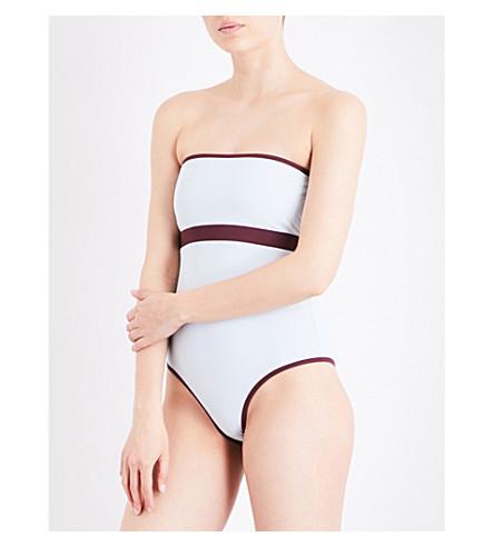 HEIDI KLEIN BB reversible swimsuit (Aqua+plum