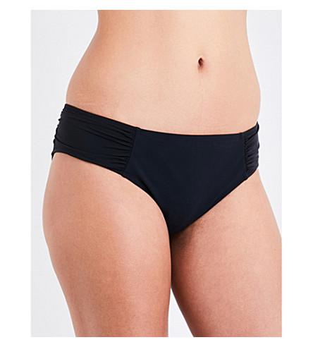 HEIDI KLEIN Body ruched bikini bottoms (Black