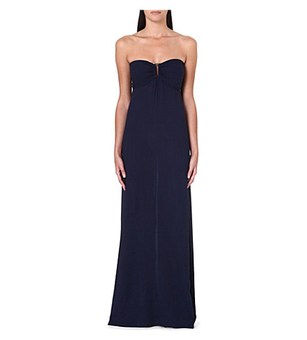 HEIDI KLEIN Ravello bandeau maxi dress (Nav-ravello