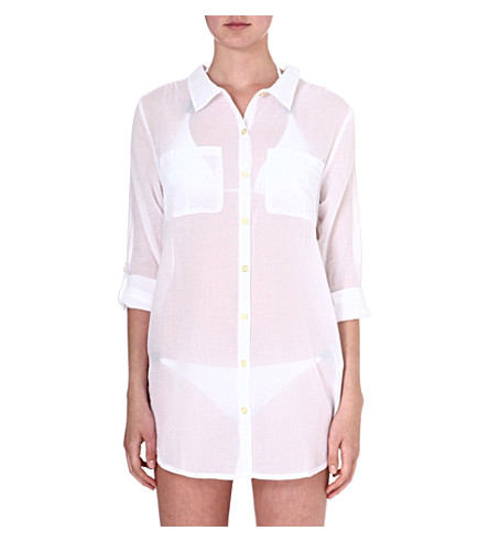 HEIDI KLEIN Martinique oversized shirt (Wht-martinique
