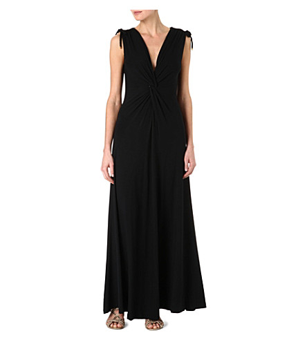 HEIDI KLEIN Kefalonia maxi dress (Blk-cap d ail