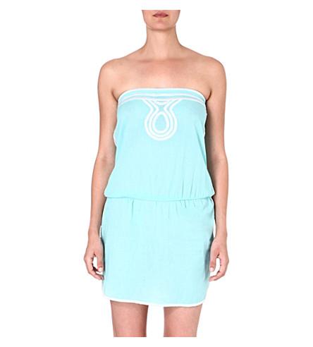 HEIDI KLEIN Sao Paulo bandeau mini dress (Blu-sao paulo