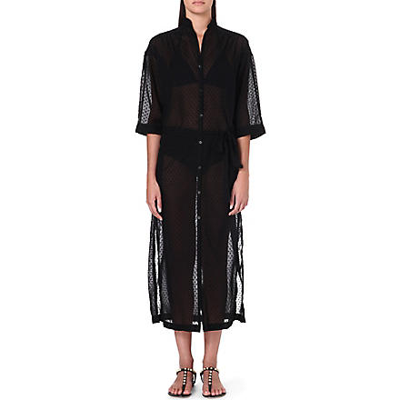 LISA MARIE FERNANDEZ Polka-dot shirtdress (Black