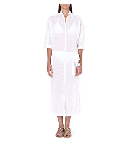 LISA MARIE FERNANDEZ Polka-dot shirt dress (White
