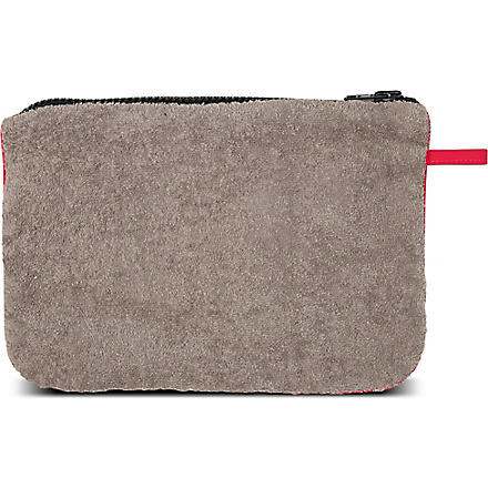 LISA MARIE FERNANDEZ Terry beach pochette (Taupe/red