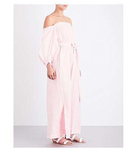 LISA MARIE FERNANDEZ Rosie linen dress (Pale+pink+linen
