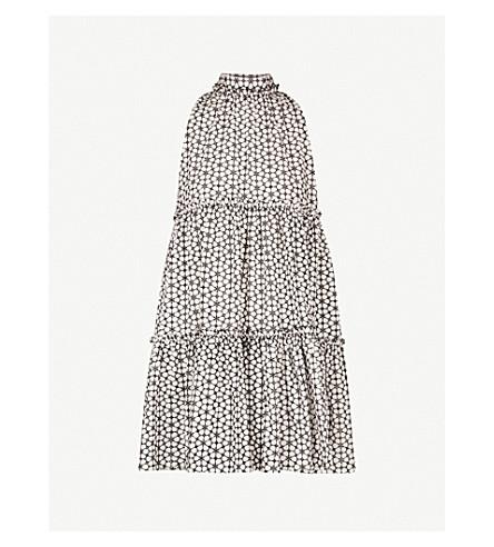 LISA MARIE FERNANDEZ埃里卡花卉刺绣棉连衣裙 (白 + 黑 + 雏菊