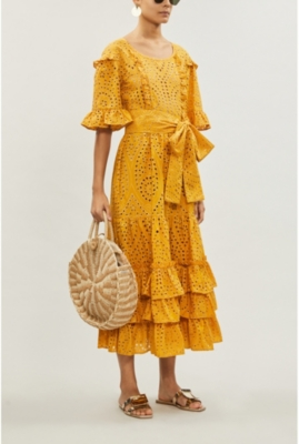 January cotton-broderie anglaise dress