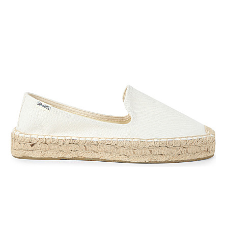 SOLUDOS Smoking canvas espadrilles (Bright white