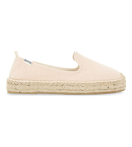SOLUDOS Espadrille smoking slipper (Soft+rose