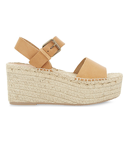 SOLUDOS Minorca leather high platform sandals (Nude+251