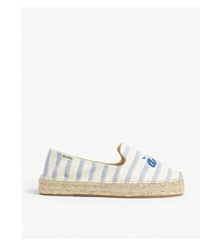SOLUDOS 海滨 espadrille 吸烟拖鞋 (自然/+ 蓝色)