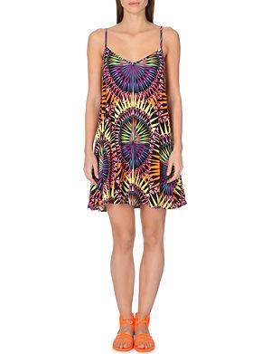 MARA HOFFMAN Geometric-print strappy swim dress