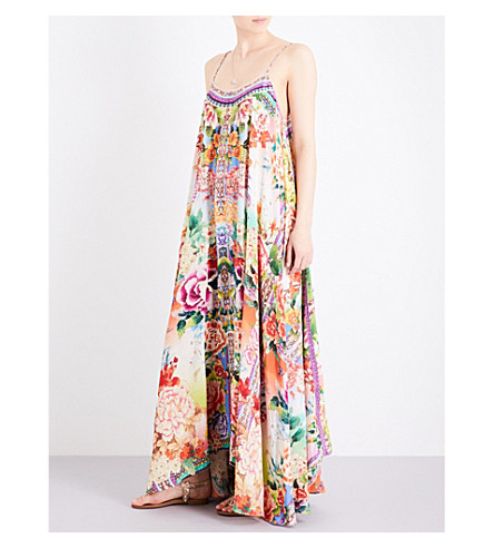 CAMILLA Flower Hour silk maxi dress (Flower+hour