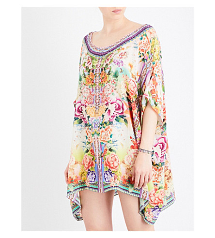 CAMILLA Flower Hour silk-georgette kaftan (Flower+hour