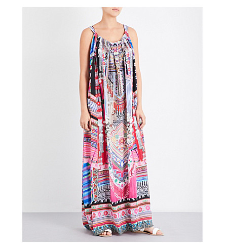 CAMILLA Printed silk-georgette maxi dress (Hani+heaven