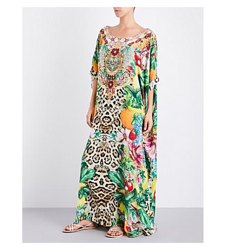 CAMILLA Floral-print silk-georgette kaftan (Cool+cat