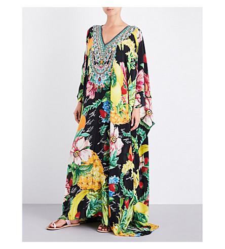 CAMILLA Floral-print silk-georgette kaftan (Call+me+carmen
