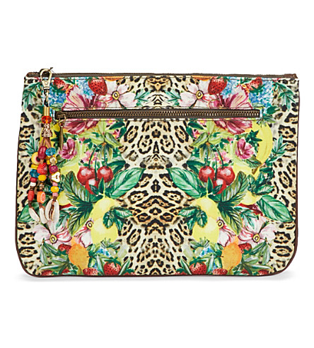 CAMILLA Rio canvas clutch (Animal+instinct