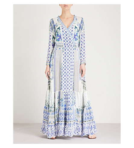 CAMILLA Salvador Summer silk maxi-dress (Salvador+summer