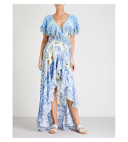 CAMILLA A Night To Remember frill-sleeve silk maxi dress (A+night+to+remember