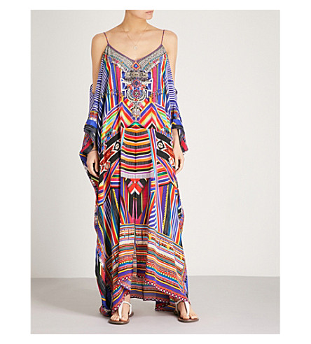 CAMILLA Tsachila embellished silk kaftan (Tsachila+blessing