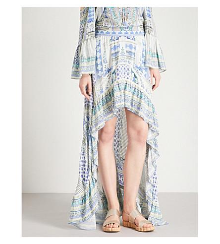 CAMILLA Salvador Summer silk-crepe de chine maxi skirt (Salvador+summer