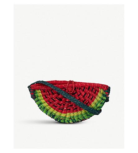 PITUSA Watermelon straw cross-body bag