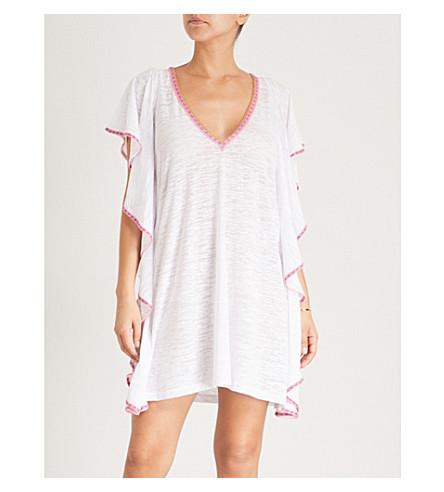 PITUSA Flare cotton-blend mini dress