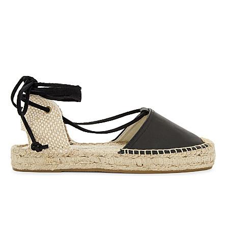SOLUDOS Platform gladiator sandals (Black