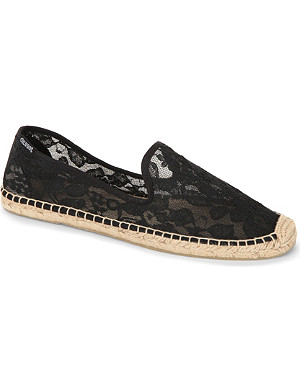 SOLUDOS Lace smoking slipper espadrilles