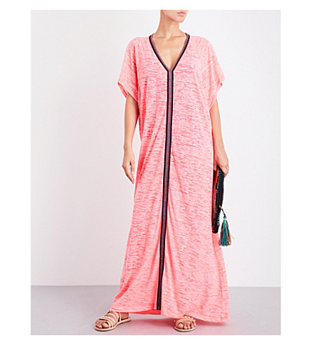 PITUSA Inca Abaya cotton-blend maxi dress (Hot+pink