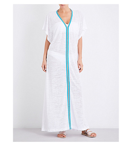 PITUSA Abaya cotton-blend dress (White