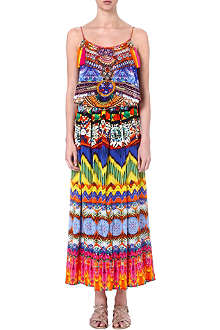 CAMILLA Sacred Charm silk maxi dress