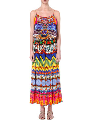 CAMILLA Sacred Charm silk maxi dress