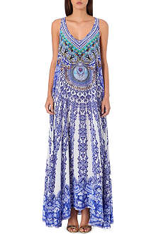 CAMILLA Nierika racerback silk maxi dress