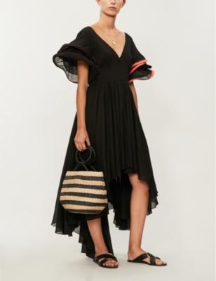 Multi Flare cotton-voile dress