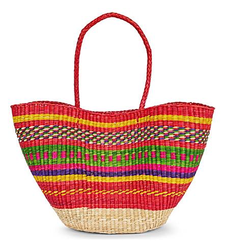 PITUSA Pitusa multi straw tote bag (Multi