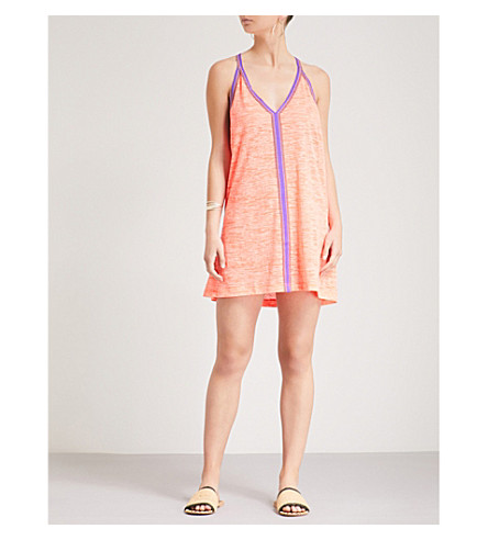 PITUSA Mini jersey sundress (Coral