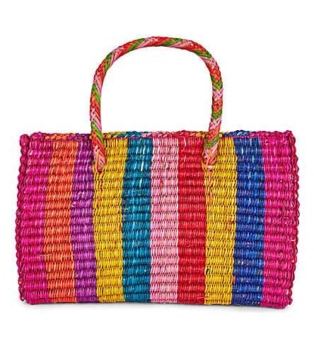 PITUSA Pitusa pinata straw tote bag (Multi