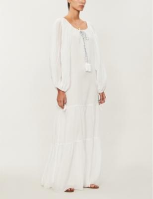 Pea cotton-voile dress