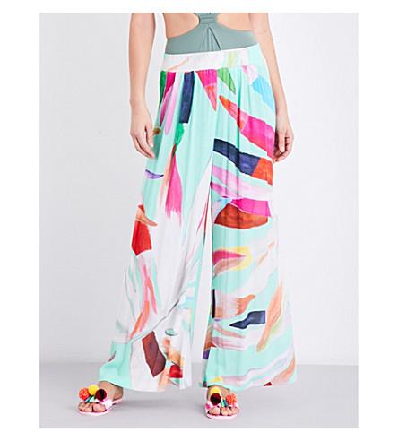 MARA HOFFMAN Abstract-print woven trousers (Marimba+aqua