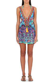 CAMILLA Printed silk beach dress