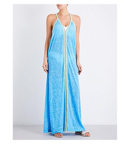 PITUSA Inca jersey maxi sundress (Blue