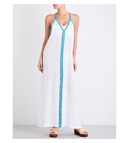 PITUSA Inca jersey maxi sundress (White